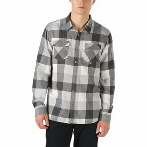 VANS Marshmallow Frost Gray Plaid Flannel